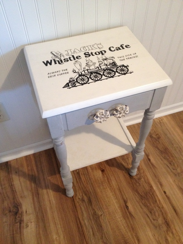 Chalk Paint Nightstand with Unique knobs